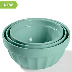 Martha Stewart 3-Pc. Stoneware Mixing Bowl Set