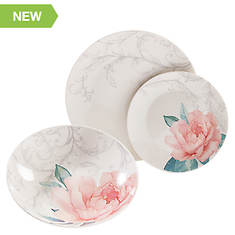 Martha Stewart 12-Pc. Peony Fine Ceramic Dinnerware Set