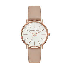 Michael Kors Pyper Leather Strap Watch