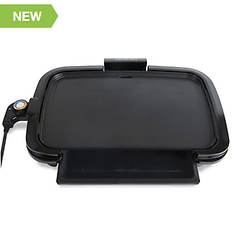 HomeCraft Non-Stick Large Griddle With Warming Drawer