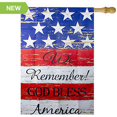 Northlight We Remember! Patriotic House Flag