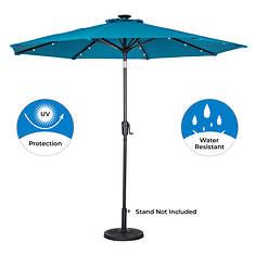 Sunray 9' Round Solar Light Umbrella