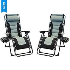 Patio Premier 2PK Padded Zero Gravity Chairs