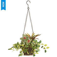 """National Tree Company 10"""" Assorted Greens Hanging Basket"""