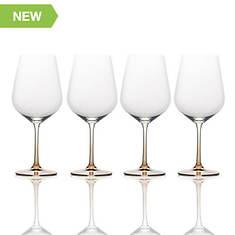 Mikasa 4-Piece Amber Red Wine Glass Set