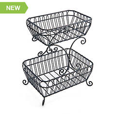 Gourmet Basics French Countryside 2 Tier Basket