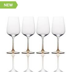 Mikasa 4-Piece Amber White Wine Glass Set