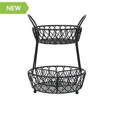 Loop & Lattice 2-Tier Round Basket
