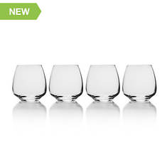 Mikasa 4-Piece Melody 15-Oz. Double Old Fashioned Glass Set