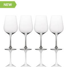 Mikasa 4-Piece Smoke White Wine Glass Set
