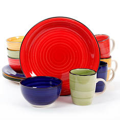 Gibson Color Vibes 12-Piece Round Dinnerware Set