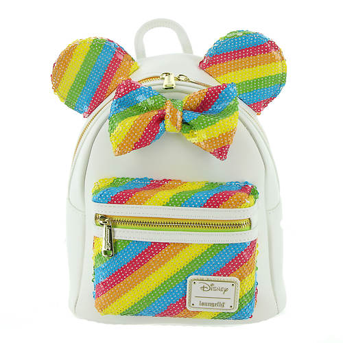Loungefly Sequin Rainbow Minnie Mini Backpack
