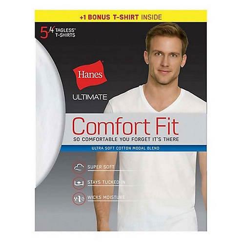 Hanes® Men's Ultimate Comfort Fit V-Neck Undershirt 5-Pack