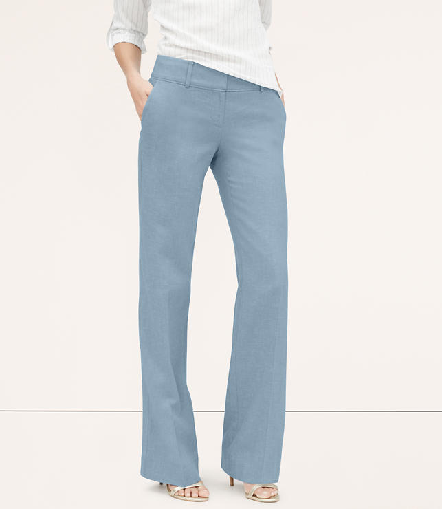 Primary Image of Chambray Fluid Trousers in Marisa Fit