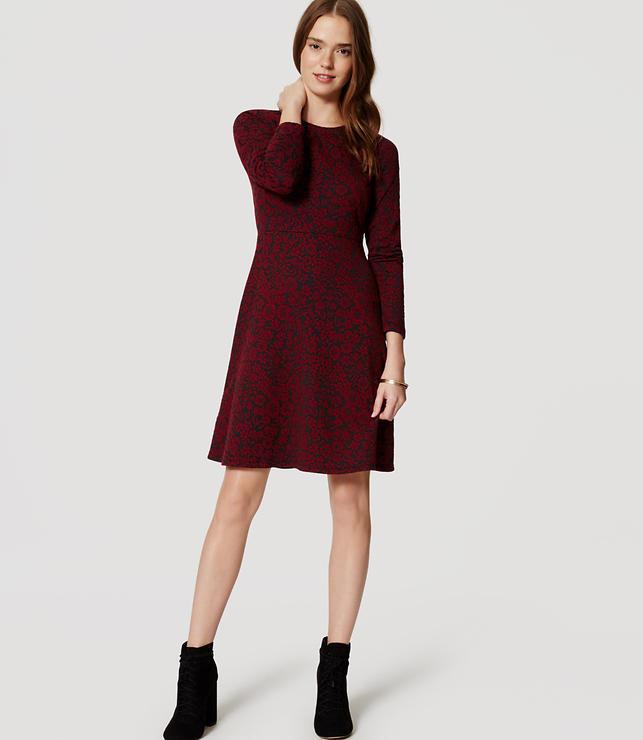 Rochie midi LOFT Crimson