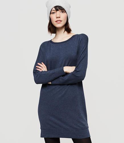 Image of Lou & Grey Signaturesoft Dolman Dress color Denim Heather