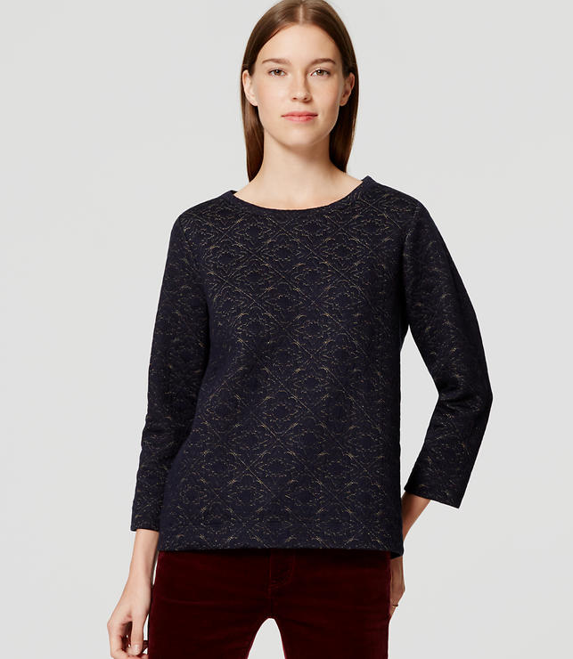 Primary Image of Shimmer Quilted Sweatshirt