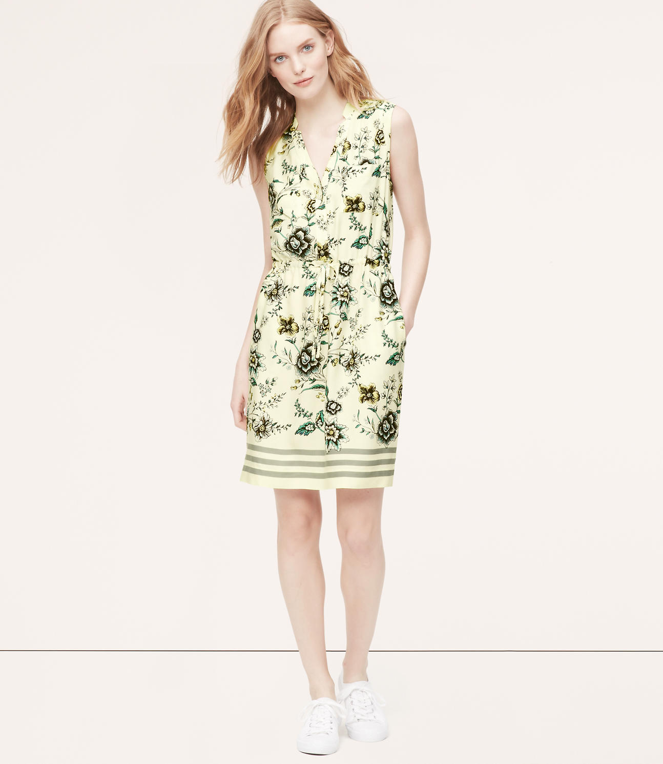 Primary Image of Wallpaper Floral Sleeveless Shirtdress
