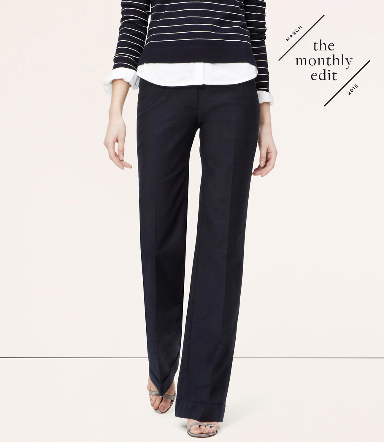 Primary Image of Tabbed Wide-Leg Trousers in Marisa Fit