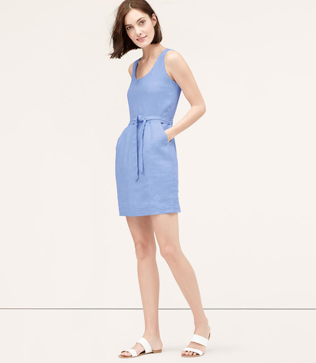 Primary Image of Cutout Linen Dress