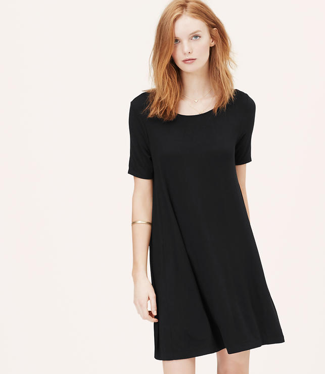 Primary Image of Short Sleeve Trapeze Dress