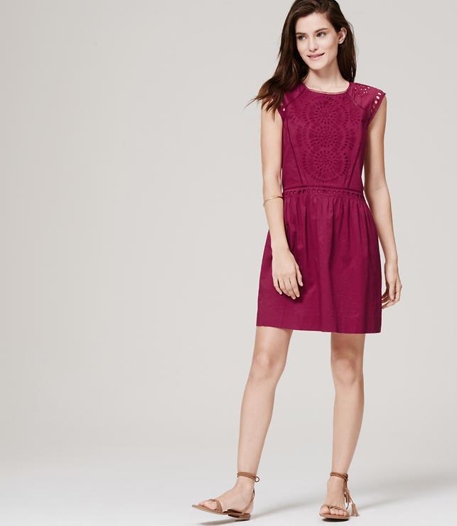 Shoptagr  Summer Eyelet Dress by Loft
