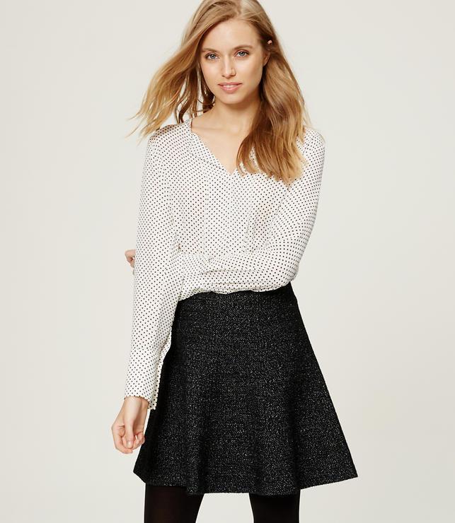Primary Image of Melange Flippy Skirt