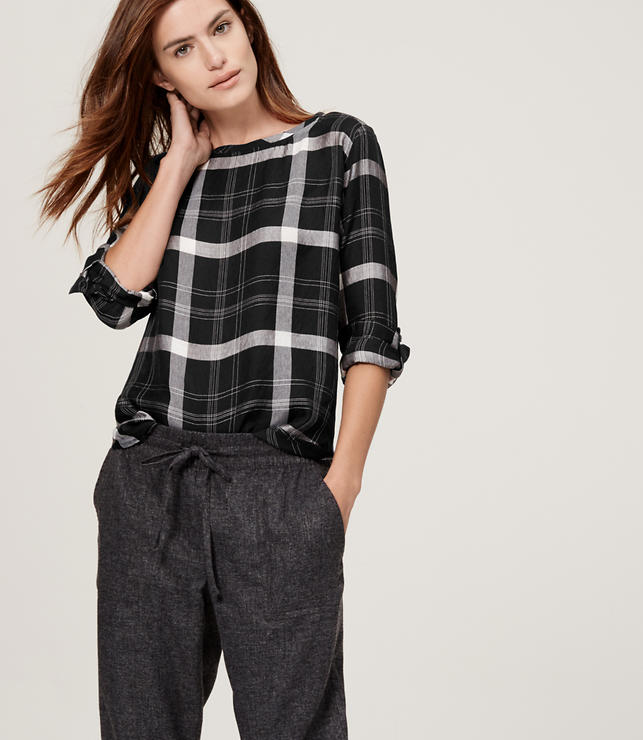 Primary Image of Autumn Plaid Blouse