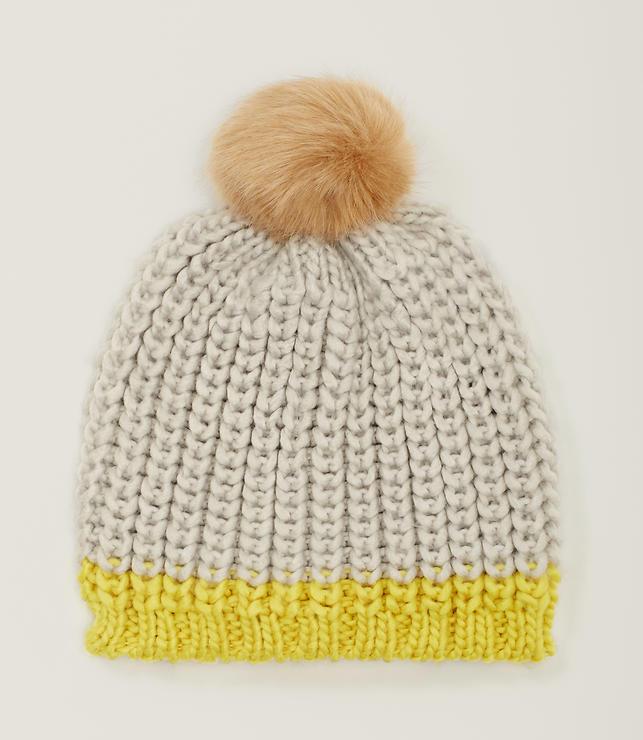 Primary Image of Colorblock Pom Pom Hat