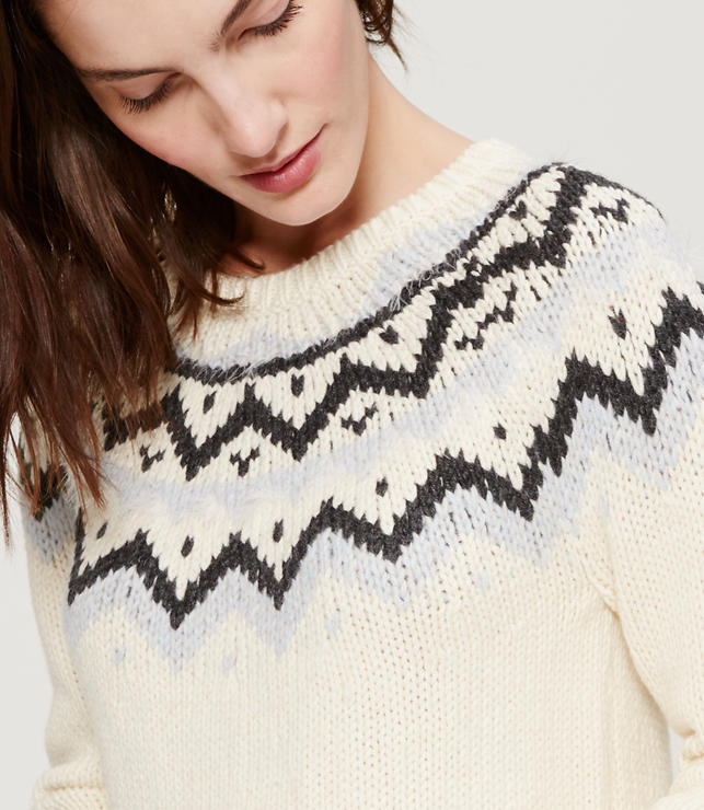 Eyelash fairisle sweater - on sale for $35!