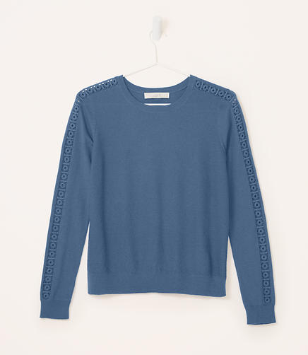 Image of Lacy Sleeve Sweater