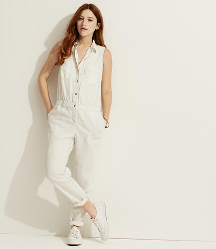 Image of Lou & Grey Bleached Chambray Jumpsuit