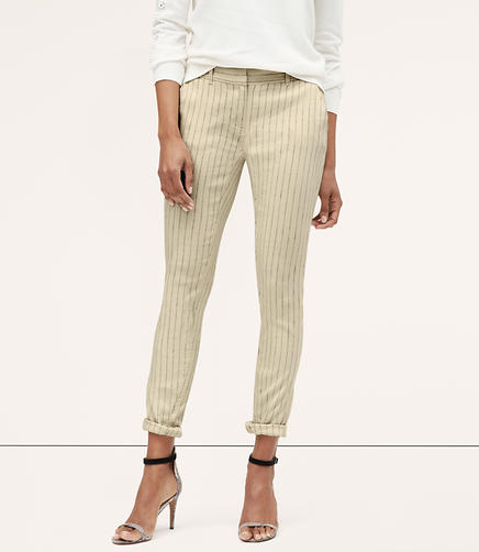 Image of Tall Striped Skinny Cropped Chinos in Julie Fit
