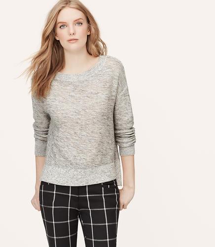 Image of Marled Knit Bateau Sweater