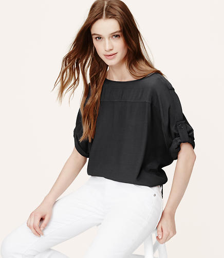 Image of Tall Tabbed Dolman Blouse