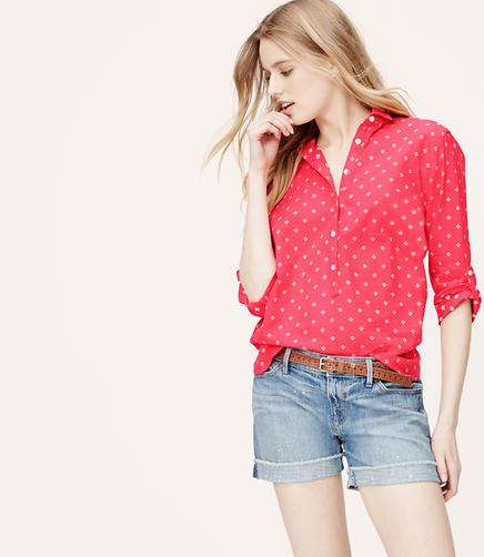 Image of Geo Hi-Lo Softened Shirt