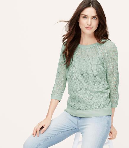 Image of Dot Lace Sweatshirt