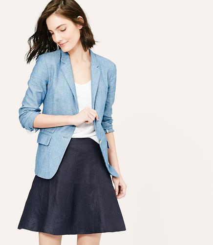 Image of Linen Flare Skirt