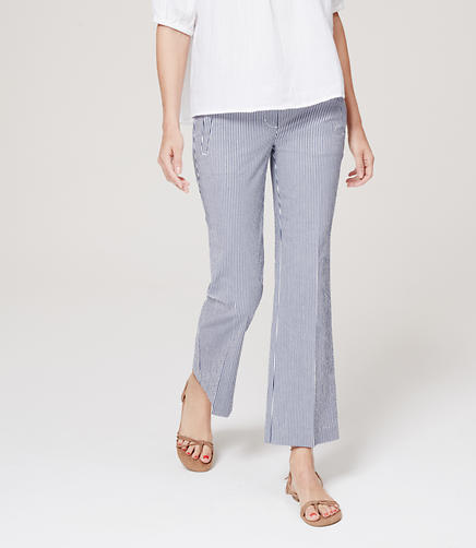 Image of Cropped Wide Leg Seersucker Pants in Marisa Fit