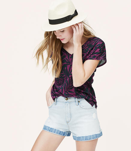 Image of Floral Slouchy Linen Tee
