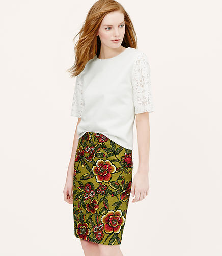 Image of Curvy Fit Paradise Pencil Skirt