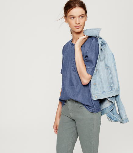 Image of Button Back Chambray Shirt