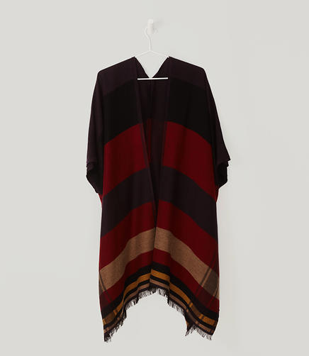 Image of Colorblock Poncho