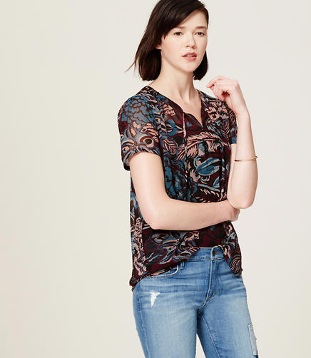 Image of Flora Short Sleeve Blouse