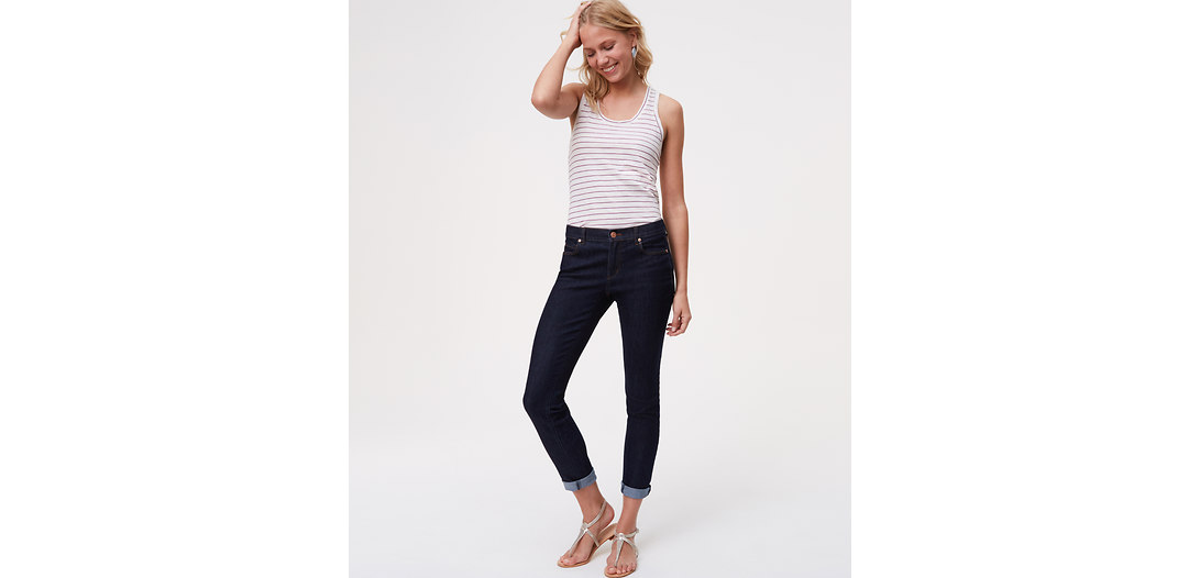 LOFT Modern Skinny Jeans in Dark Rinse Wash