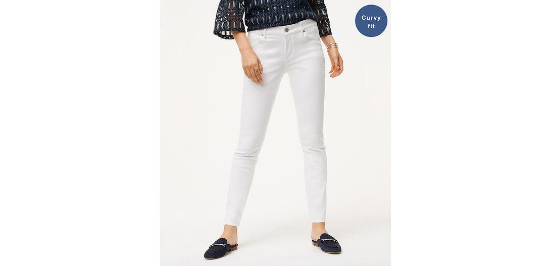 LOFT Tall Curvy Skinny Jeans in White