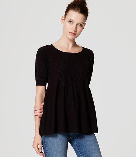 LOFT Ottoman Peplum Sweater
