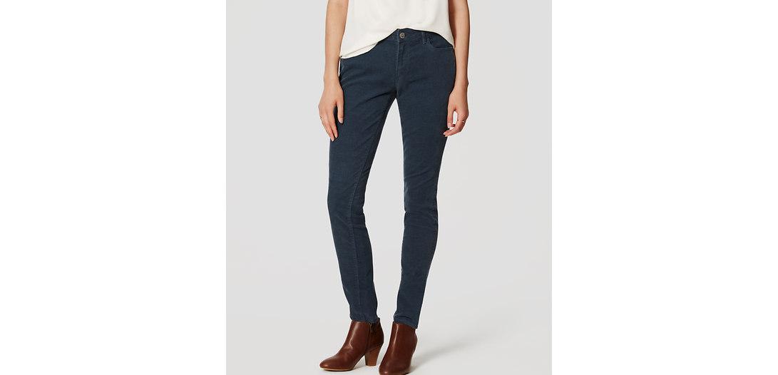 LOFT Tall Curvy Skinny Corduroy Pants