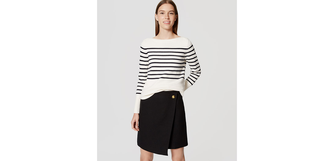 LOFT Striped Boatneck Sweater