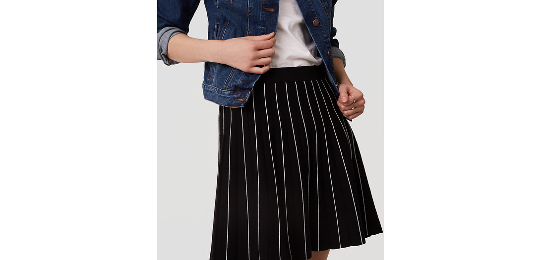 LOFT Striped Sweater Skirt